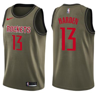 uk availability 79be5 3ecdd James Harden Houston Rockets Nike Jersey NBA Swingman - Salute-To-Service