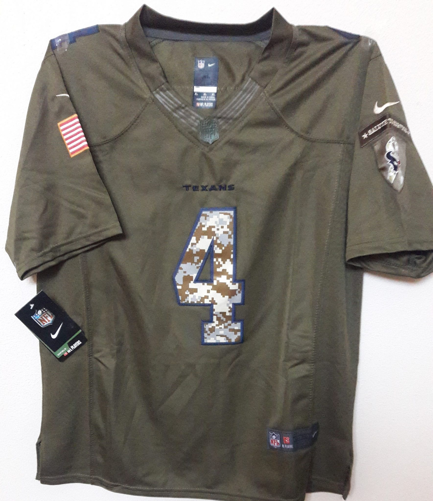 info for 0ab6f 7a011 HOUSTON TEXANS SALUTE-TO-SERVICE JERSEY