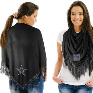 DALLAS COWBOYS BEADED SHAWL SCARF