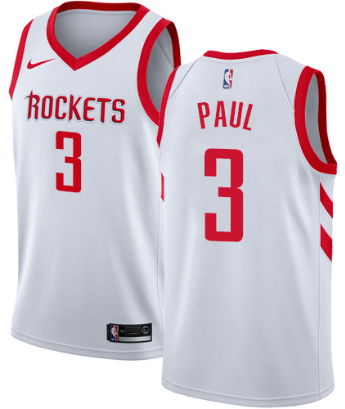 5fabf8978 Chris Paul Houston Rockets White Swingman Jersey – Platinumstars