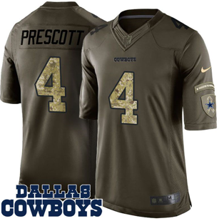 fb48218af63 Dak Preston Dallas Cowboys Nike Jersey – Camo Salute to Service ...