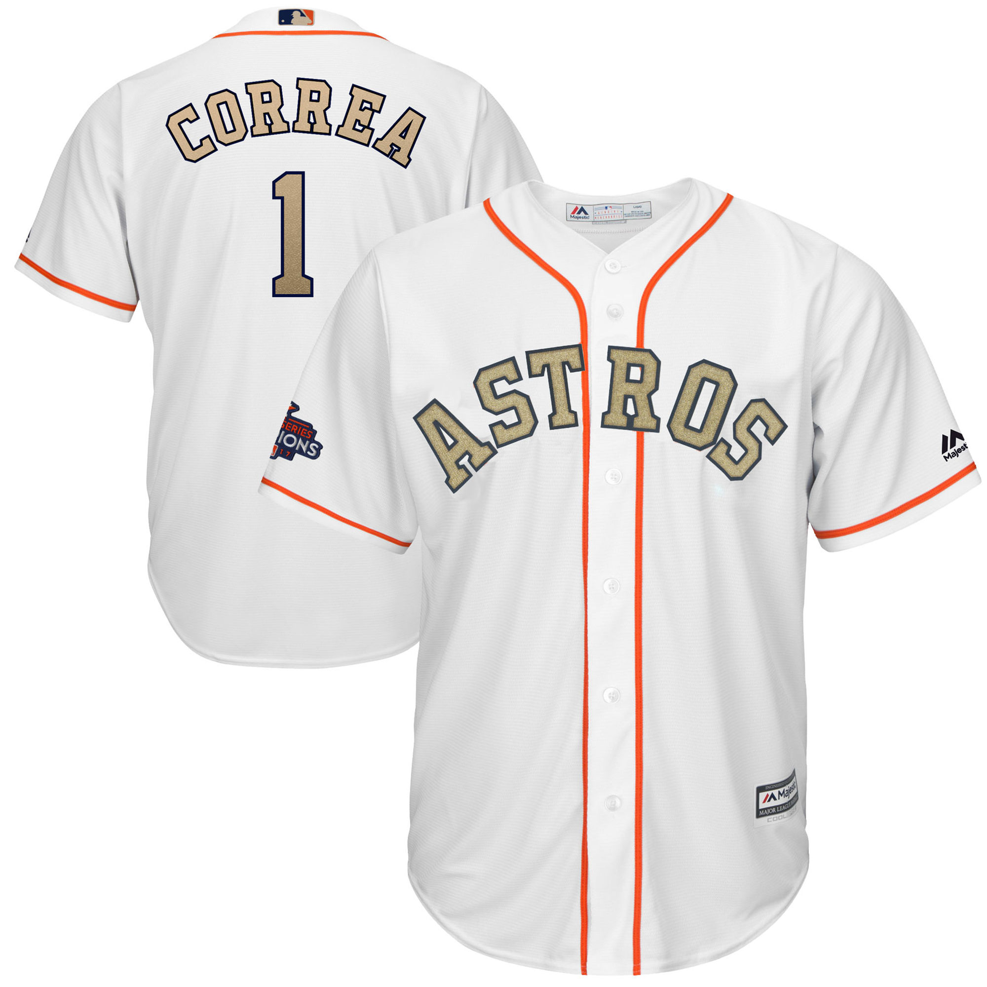 wholesale dealer 31f92 37029 Majestic Carlos Correa Houston Astros Gold Jersey