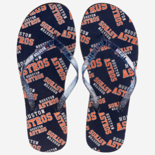 HOUSTON ASTROS FLIP FLOPS