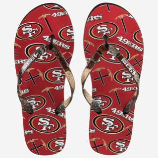 SAN FRANCISCO 49ERS FLIP FLOPS